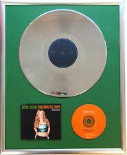 "Britney Spears Crazy gerahmte CD Cover +12"" Vinyl goldene/platin Schallplatte"