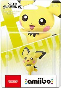 Nintendo Super Smash Bros Collection Amiibo Pokemon No 72 Pichu - New aus