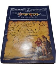 Atlas of The Dragon Lance World D&D TSR Dungeons & Dragons 1st Edition