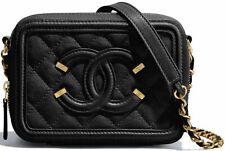 Authentic CHANEL CC Filigree Black Vanity Clutch With Chain 2018 Mini bag