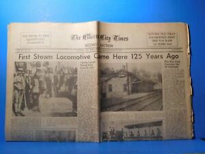 Newspaper The Ellicot City Times 1955 August 25 First Steam Locomotive Came Here