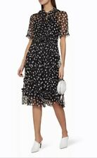 Lee Mathews 'Mansfield' Silk Georgette Polka Dot Races Dress RRP$699 BNWT s2/10