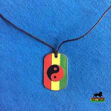 Hund Etikett Rasta Ying Yang Halskette Anhänger Jah Liebe Jamaica Reggae 1 Größe