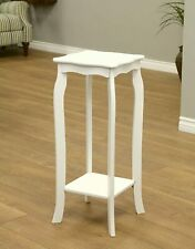 White Wooden 2 Tier Plant Stand Accent Piece