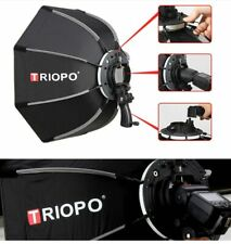 Triopo 90cm Outdoor Octagon Umbrella Softbox with Handgrip Speedlight Flash