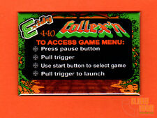 "Exidy Collexn multigame 2x3"" instructional magnet Crossbow theme"