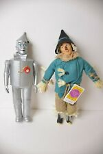 "The Wizard Of Oz - Scarecrow & Tin Man 13"" Dolls by Presents 1987 MGM Turner"