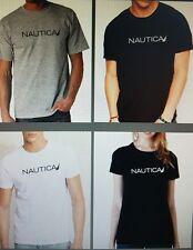 Nautica logo design tshirt  White black grey darkgrey khaki tee size xs ~2xl