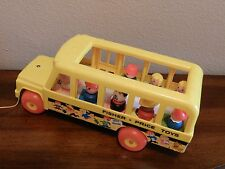 Vintage 1984 Fisher Price Little People SCHOOL BUS #192 Pull Toy COMPLETE!