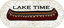 """20X44 """"Lake Time"""" Canoe Oar Cabin Lodge Oval Kitchen Rug Mat Washable Accent"""
