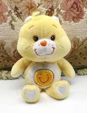 "SO CUTE! YELLOW SUNSHINE BEAR CARE BEAR  8"" 2002 PLUSH STUFFED ANIMAL"