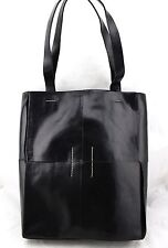$378 DKNY Donna Karan Black Leather Large Satchel Tote Shopper Shoulder Bag NWT