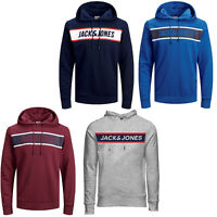 Jack & Jones Core Hoodie Mens Logo Print Drawstring Hooded L/S Sweater JCOThing