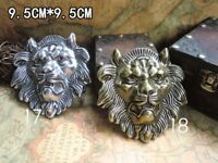 "Quality Desig Solid Brass 925 Silver/Gold lion head Belt Buckle cowboy 40mm 1.5"""