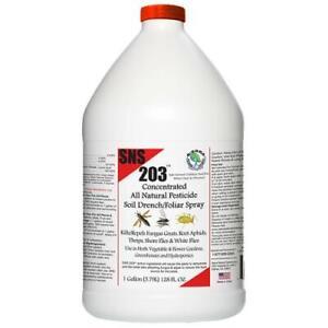 SNS 203 Concentrate Pesticide Soil Spray/Drench Gallon - Sierra Natural Sciences