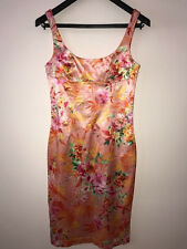 D&G Dolce & Gabbana Pink Floral Dress Rayon/Cotton 44It / 8US Made in Italy