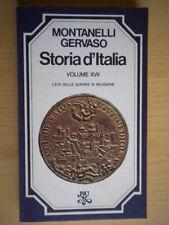 Storia d'Italia 17 Montanelli Gervaso BUR 1975Libro guerra religione ottimo 79