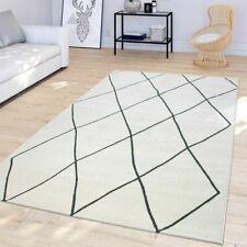 Geometric Modern Rug Diamond Design Carpets Cream Grey Kitchen Living Room Mats