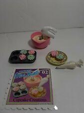 Miniatura Dollhouse Rement Lote Barbie Sweet Treats Cupcake Creaciones postres se