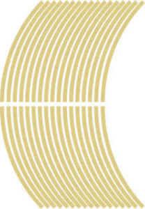 5mm wheel rim tape striping stripes stickers GOLD..(38 pieces/9 per wheel)