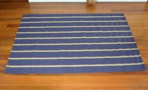Navy & Natural Stripe Jute Rug