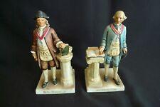 Vintage W Goebel West Germany Porcelain Bookends Ben Franklin George Washington