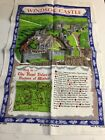 """Irish Linen Windsor Castle Wall Hanging Ulster Weavers Numbered Map Key 17""""x29"""""""