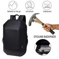 OZUKO Backpack Men Hard Shell Backpack Waterproof Anti Theft Travel Bags Black