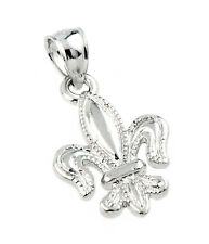 925 Sterling Silver Beautiful Fleur-de-Lis - Lily of France Pendant