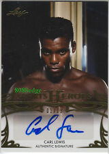 2013 LEAF SPORTS HEROES AUTO: CARL LEWIS #1/10 AUTOGRAPH OLYMPIC/WORLD GOLD 1/1