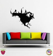 Wall Sticker Map North America Map Modern Decor for Living Room z1322