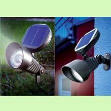 LAMPADA FARETTO SPOT ENERGIA SOLARE 3 LED CON SENSORE CREPUSCOLARE – luce gratis