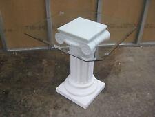 Esstisch Tisch mit Säulen u.Glasplatte eckig 70x70cm Nr.29