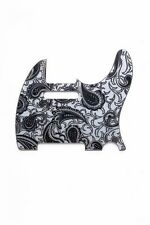 NEW Telecaster Tele Black & Silver Paisley PICKGUARD for Fender Guitar 5 Hole
