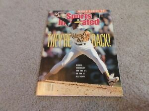 Sports Illustrated Dennis Eckersley A's Oct 1990 MLB Playoffs No Label mint!!