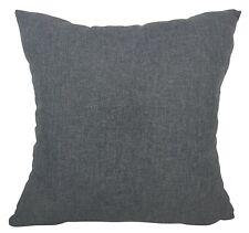 "Plain Dark Grey Cushion Covers Home Decor Quality Pillow Cases 18x18"" / 45x45cm"