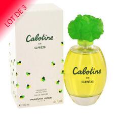 CABOTINE de GRES pour Femme Eau de Parfum 100ml LOT DE 3  +1 Échantillon