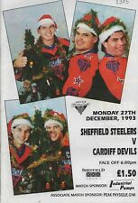 Dec 93 SHEFFIELD STEELERS v CARDIFF DEVILS