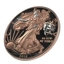 USA 2019 $1 Liberty Silver Eagle - KING'S SKULL 1Oz Silver Coin, 500pcs only