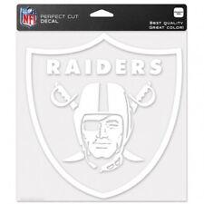 "Las Vegas Raiders NFL 8""x8"" White Decal Sticker Primary Team Logo Die Cut Car"
