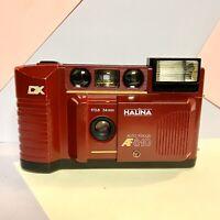 Burgundy HALINA AF 810 35mm Compact Film Camera Vintage Lomo Retro Working