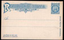 3356 BOLIVIA PS STATIONERY POSTAL CARD UNUSED