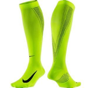 NEW Unisex Nike Elite Lightweight Compression OTC Reflective Running Socks-Volt