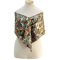 BAZAR  CHRISTIAN LACROIX FLORAL  WRAP Silk Scarf 11/55 IN MADE IN ITALY