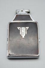 Vintage Ronson De-Light Lighter Cigarette Case Chromium Plate US -Preowned