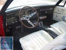 1968 Impala OEM Vinyl Covered Madrid Grain Dash Pad W/out AC - Black - Each