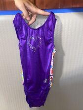 Gk Stars Leotard Purple With Heart child Large