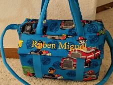 Paw Patrol custom handmade Diaper Bag w/changing pad by EMIJANE free embroider