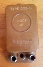 GENERAL RADIO Co 0.002 µF TYPE 505-G STANDARD CAPACITOR 194719 Cambridge 39 Mass