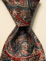 CHRISTIAN DIOR Men's Necktie USA Designer Geometric Blue/Mauve/Green/Ivory EUC